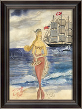 Gifts From Afar Blonde Mermaid Wall Art