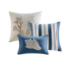 Neptune 7-Piece Queen Size Comforter Set decorative pillows