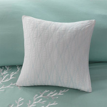 Aqua Blue Coastline Comforter Collection - Queen Size with deco pillows 2