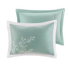 Aqua Blue Coastline Comforter Collection shams