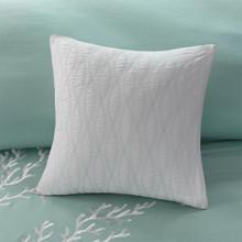 Aqua Blue Coastline Comforter Collection deco pillow 2
