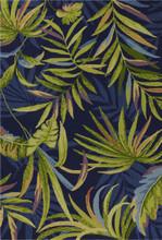 Ink Blue Playa Tropical Indoor-Outdoor Rug