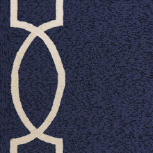 Hamptons Ocean Blue Madison Rug close up 1