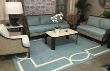 Hamptons Spa Blue Madison Rug by Libby Langdon  room image