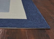 Hamptons Highview Border Rug by Libby Langdon - Navy Blue corner image