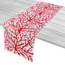 Coral Red Table Runner