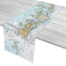 Key West to Boca Chica Nautical Chart Table Runner