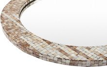 Hornbrook Mother of Pearl Round Mirror detail