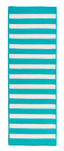 Turquoise Stripe It Rug runner size