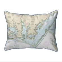 Beaufort Inlet and Part of Core Sound, NC Nautical Map 20 x 24 Pillow