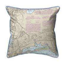 Block Island Sound - Westerly State Airport, Rhode Island Nautical Chart 22 x 22 Pillow