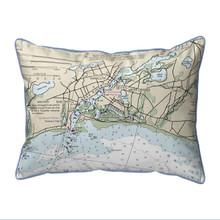 Bass River, MA Nautical Chart 20 x 24 Pillow