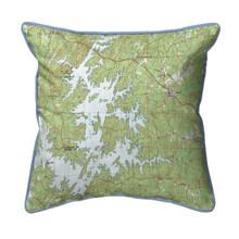 Lake Martin Alabama 22 x 22 Nautical Chart Pillow