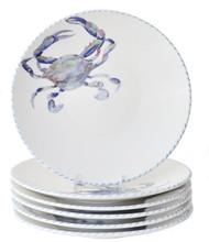 Blue Crab Salad or Dessert Plates - Set of 6