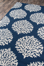 Navy Coral Garden Area Rug floor image
