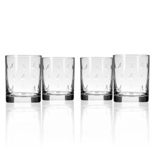 Sailing Double Old Fashioned Glasses - Set of 4