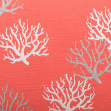 Isadella Coral Luxury Pillow close up fabric image