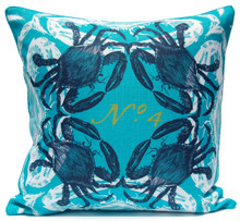 Navy Ocean Crab Luxury Pillow