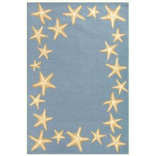 Capri Starfish Border Bluewater Rug