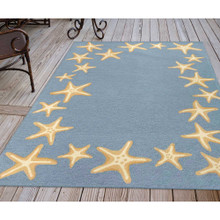 Capri Starfish Border Bluewater Rug floor image