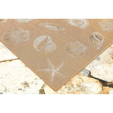 Taupe Carmel Shells Rug corner image