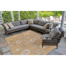 Taupe Carmel Shells Rug outdoor room image