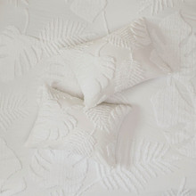 Bahama Palms Tufted Chenille King Duvet Set details 2