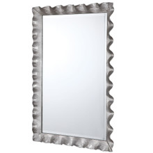 Haya Silvered Scallop Mirror side view