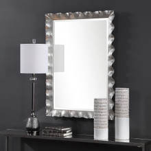 Haya Silvered Scallop Mirror