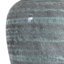 Pelia Light Aqua Striped Table Lamp close up 2