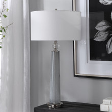 Grays Harbor Frosted Art Table Lamp room view