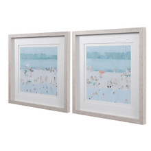 Sea Glass Sandbar Framed Prints side view