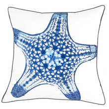 Blue Starfish Outdoor Sunbrella® Pillow