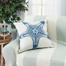Blue Starfish Outdoor Sunbrella® Pillow room view