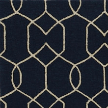 Hamptons Navy Groovy Gate Rug close up 1