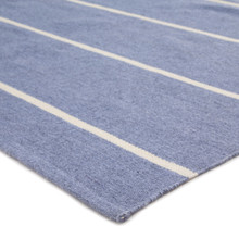 Corbina Pin Striped Eventide Blue Rug corner