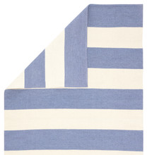Remora Eventide Blue Striped Rug back