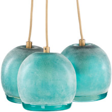 Ibiza Mint Blue Frosted Glass Pendant