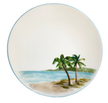 Palm Breezes Salad or Dessert Plates - Set of 6
