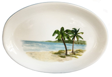 Palm Breezes Large Oval Serving Platter