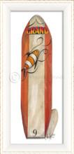 Number Nine Red Surfboard Art