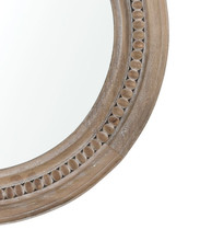 River's Run Mirror in Natural Finish close up image