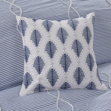 Ocean Blue Coastal Farmhouse Comforter Queen Set room view 3