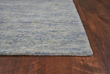 Serenity Ocean Breeze Luxury Wool Rug corner