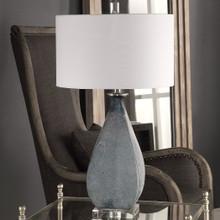 Ocean Blue Atlantica Glass Table Lamp non-lit
