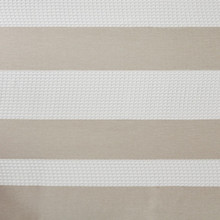 Spa Taupe Striped Shower Curtain close up