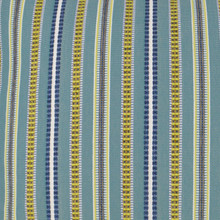 Comino Lagoon Striped Pillow fabric close up