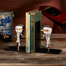 Outboard Motor Bookends Aluminum room view