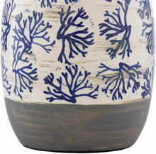 Octavia Blue Coral Painted Table Lamp bottom