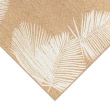 Sand and Ivory Carmel Tropical Palm Rug corner